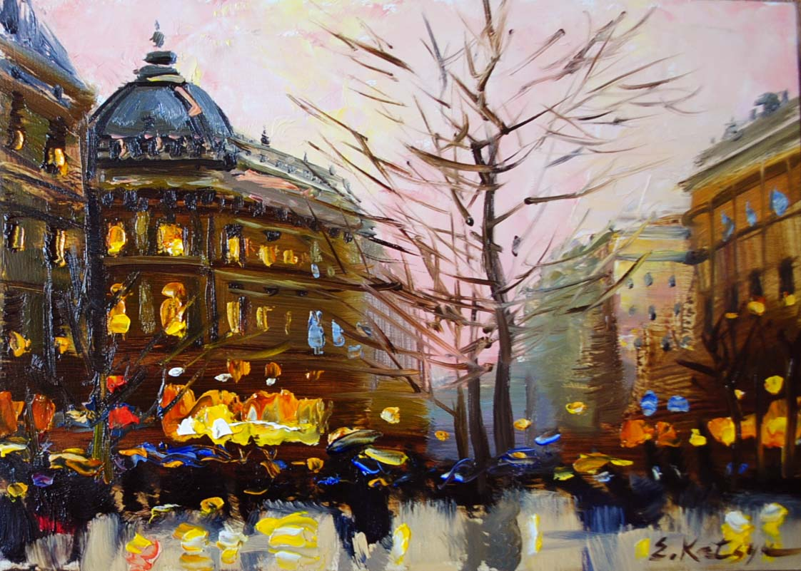 """Paris Memories I"" original fine art by Elena Katsyura"