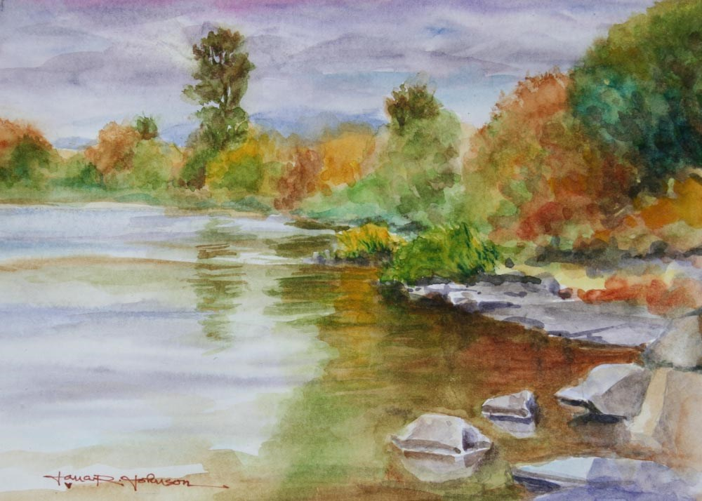 """River Reflections"" original fine art by Jana Johnson"