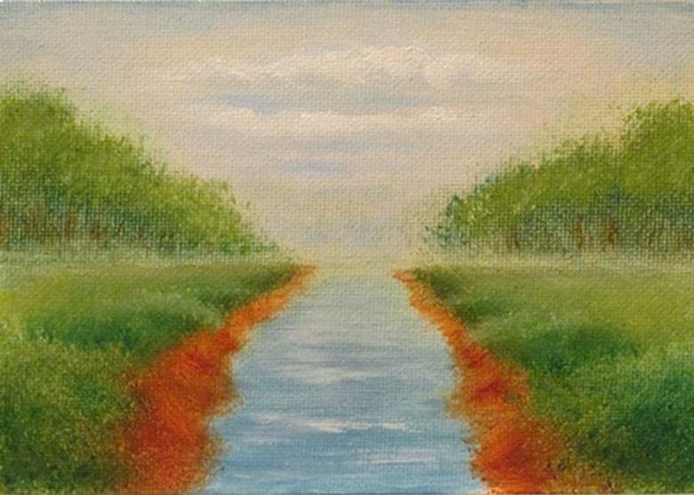 """Landscape Mini25"" original fine art by Mary Sylvia Hines"