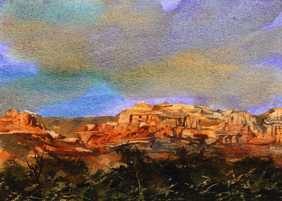 """Sedona"" original fine art by Linda Henry"