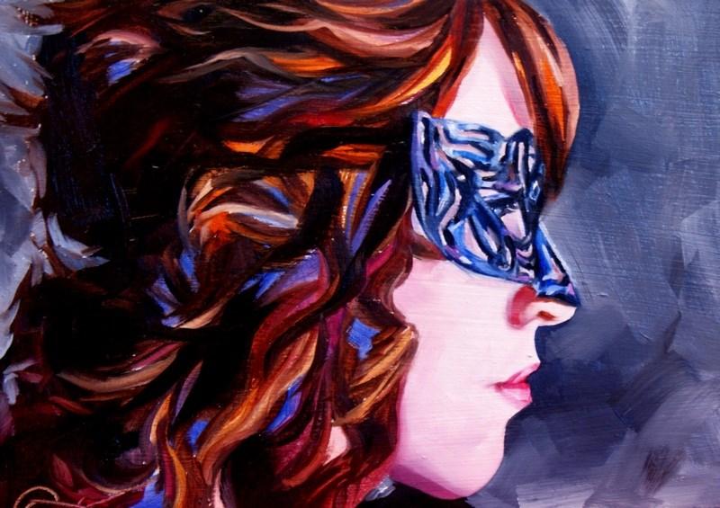 """Filigree - Self Portrait"" original fine art by Crystal Cook"