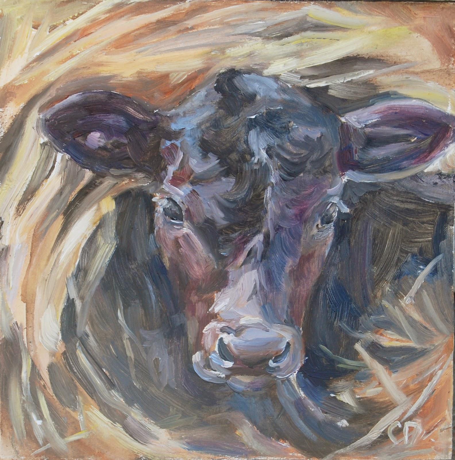 """Straw Roll-Up"" original fine art by Carol DeMumbrum"