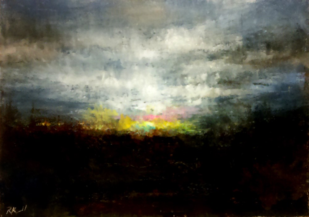 """Fleeting Sunset"" original fine art by Bob Kimball"