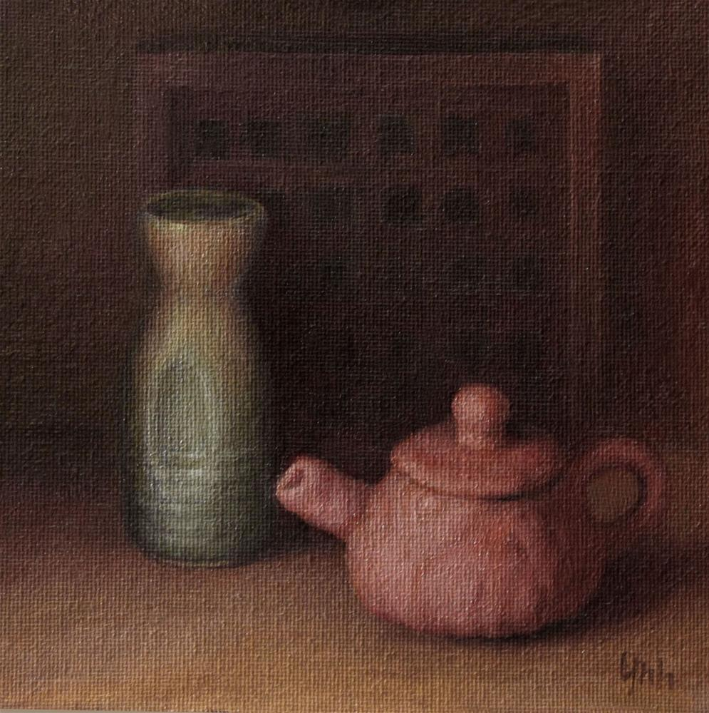"""Clay pot"" original fine art by Yuehua He"