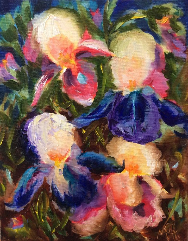 """Iris Dance original oil on 11x14 canvas"" original fine art by Molly Rohrscheib Hathaway"