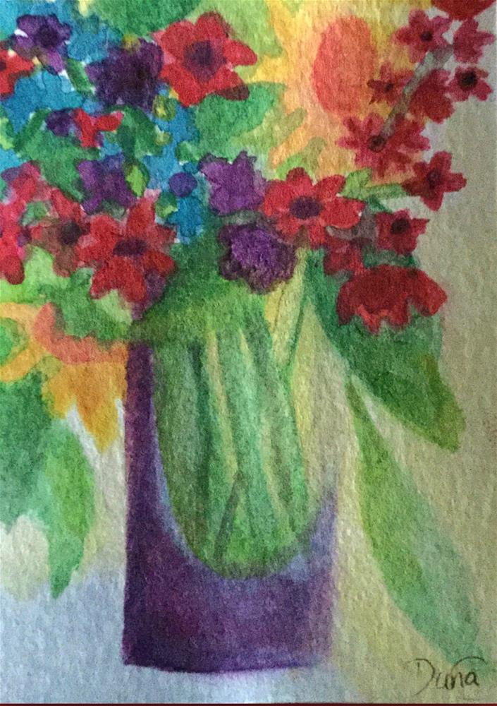 """Flowers 4 You"" original fine art by Dana C"