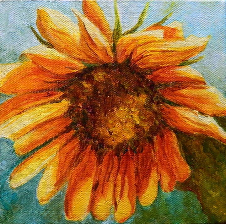 """Sunflower # 5"" original fine art by Gloria Urban"