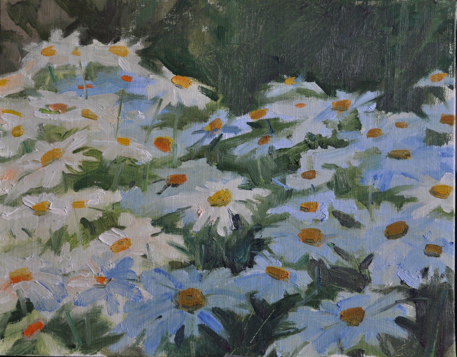 """""""Summer 10x8 , oil/board"""" original fine art by Emiliya Lane"""