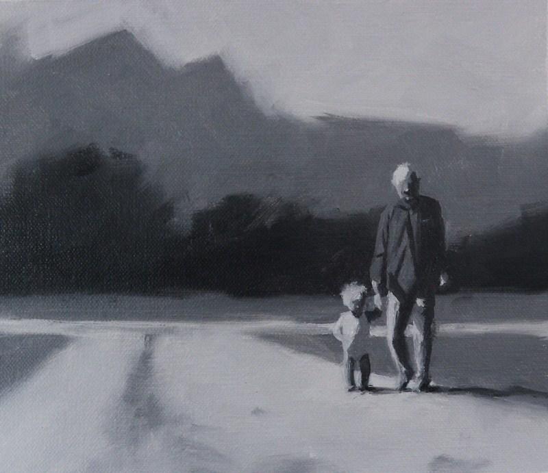"""""""Máni og Afi"""" original fine art by Thorgrimur Andri Einarsson"""