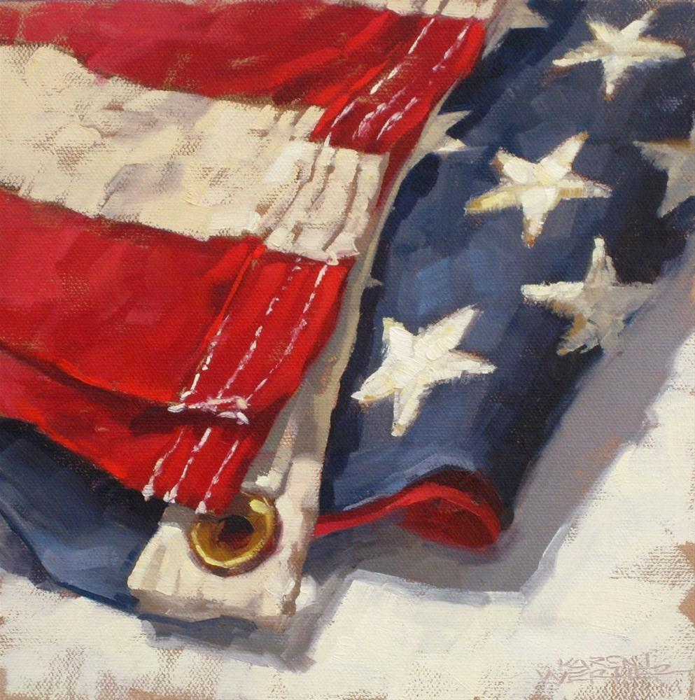 """Old Glory 3"" original fine art by Karen Werner"