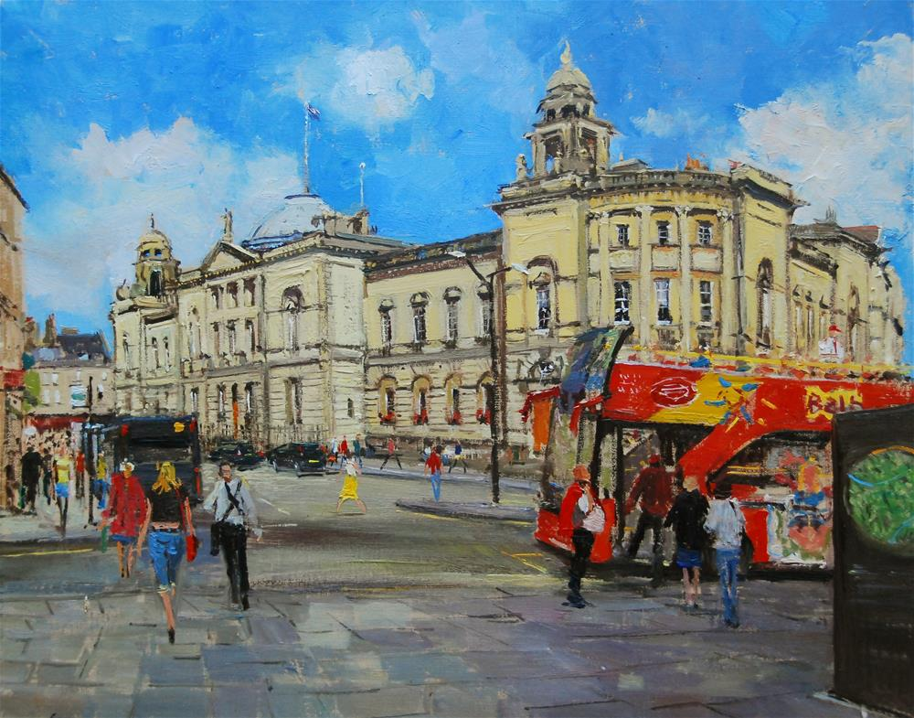"""Afternoon Light, The Guildhall, Bath"" original fine art by Adebanji Alade"