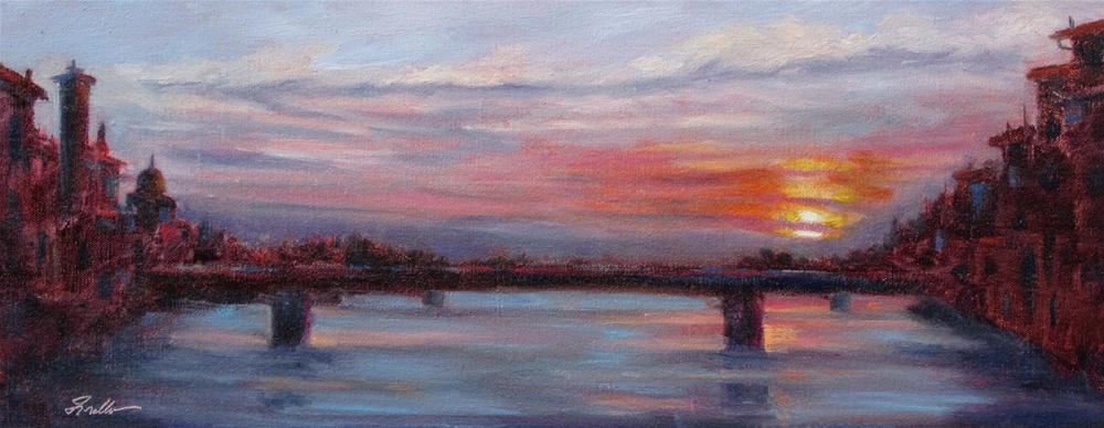 """Firenze Sunset"" original fine art by Pat Fiorello"