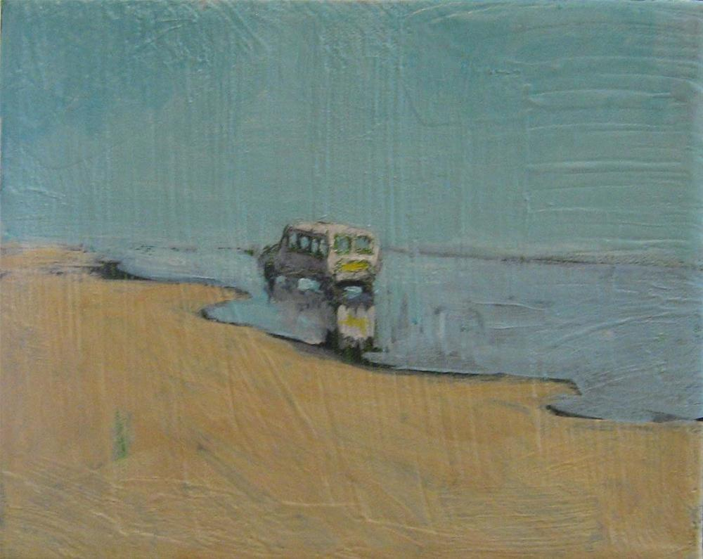 """Beach Bus"" original fine art by Kristina Davidson"