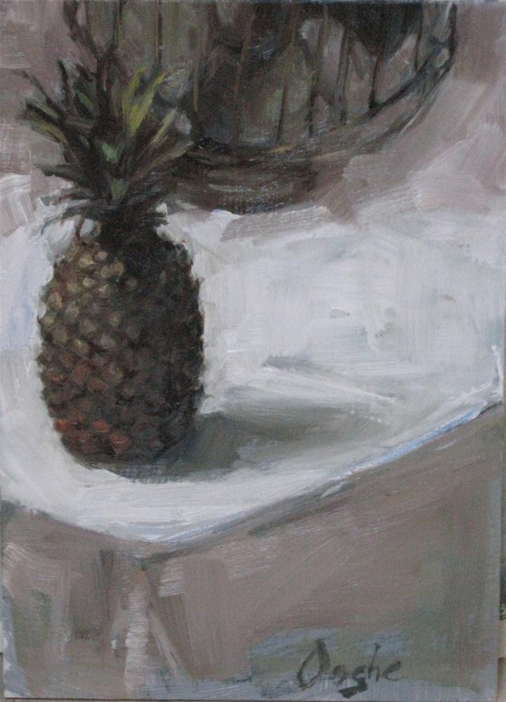 """Pineapple"" original fine art by Angela Ooghe"