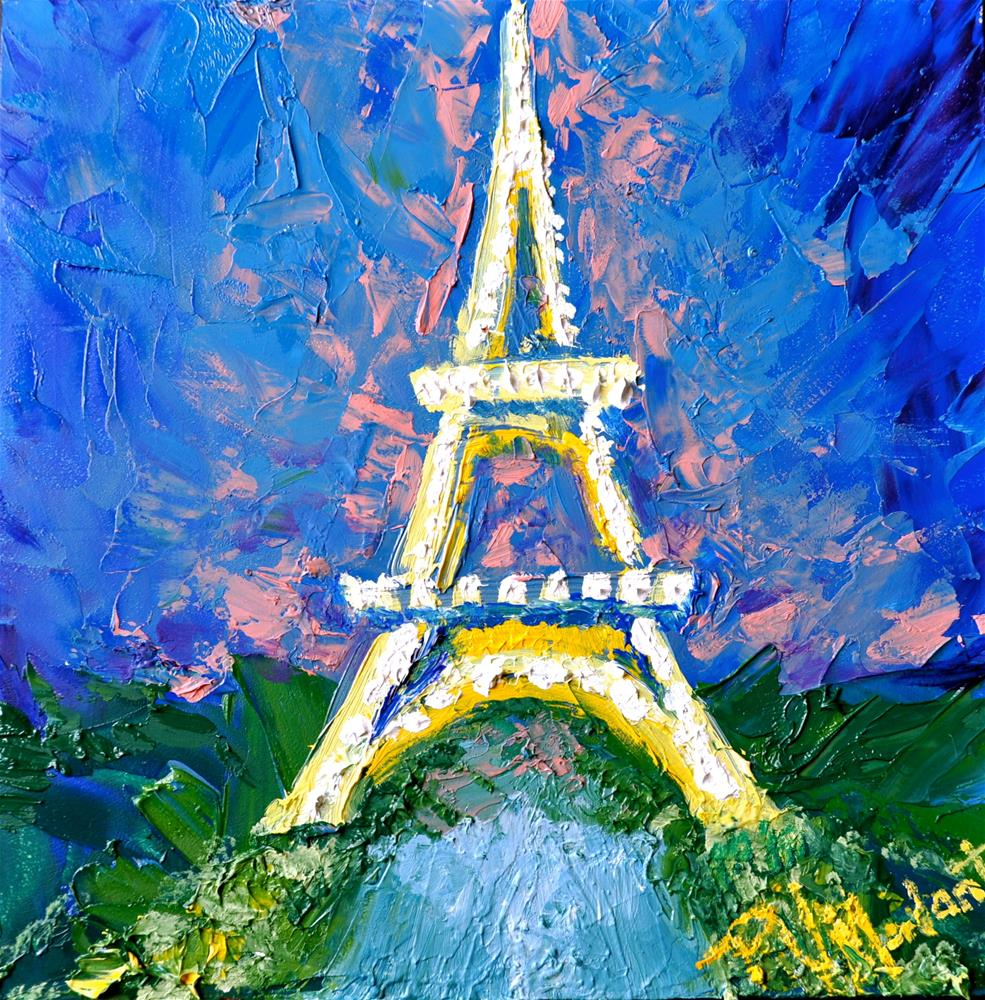"""Eiffel Tower in Color"" original fine art by Peggy W Morvant"