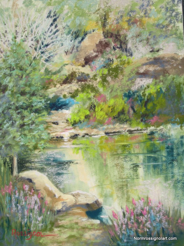 """""""Calm Waters on the Dechutes"""" original fine art by Norm Rossignol"""