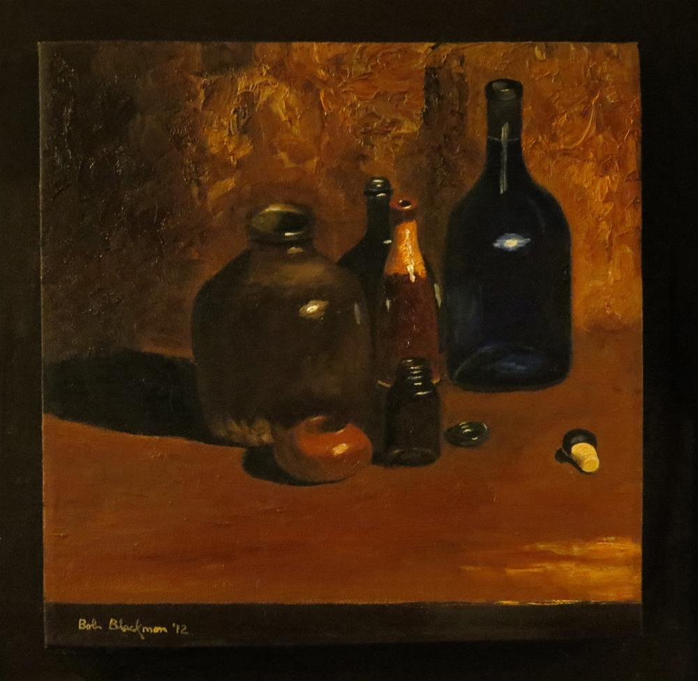 """Blue and Shades of Brown"" original fine art by Bob Blackmon"