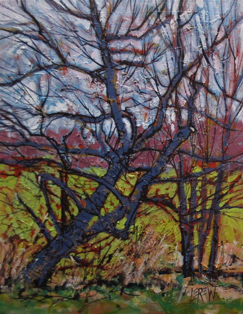 """Black Willow Spring 150408"" original fine art by Larry Lerew"