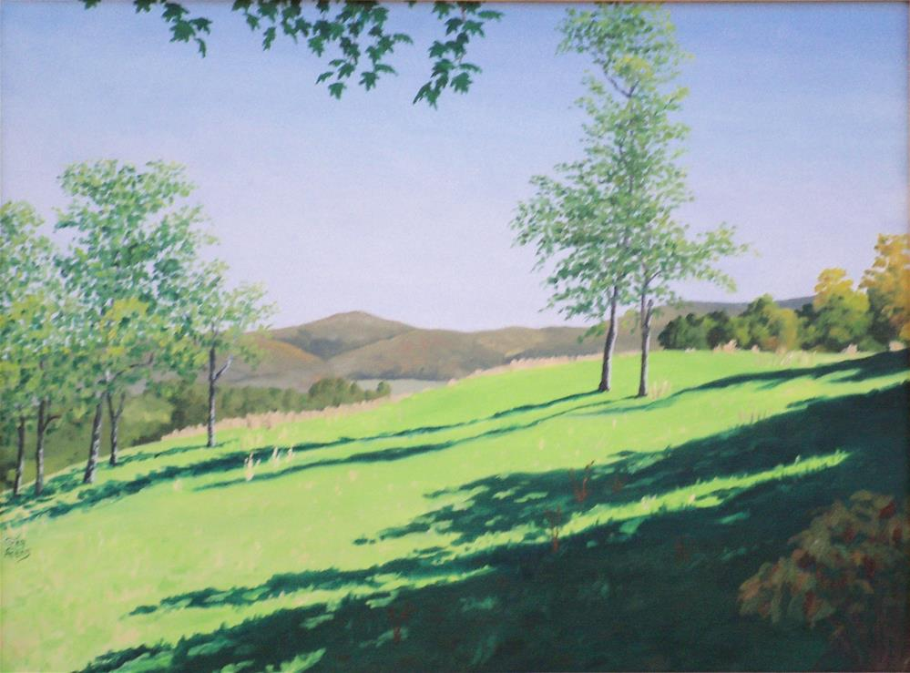 """High Pasture"" original fine art by Greg Arens"