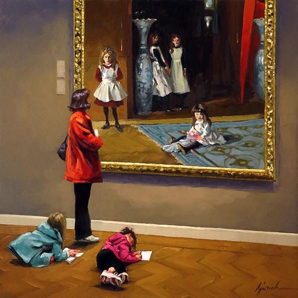 """Sister Act"" original fine art by Karin Jurick"