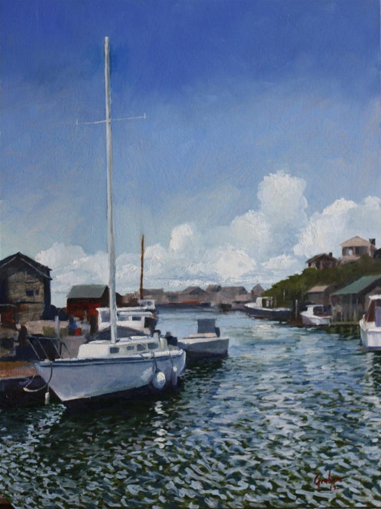 """View from the Galley, Menemsha"" original fine art by Graham Townsend"