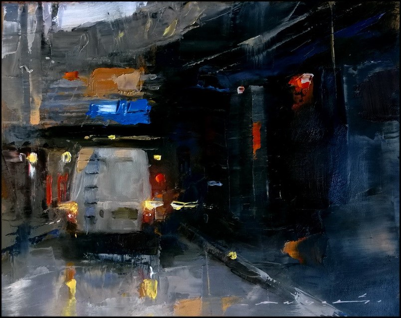 """City Traffic_014"" original fine art by Angel Angelov"