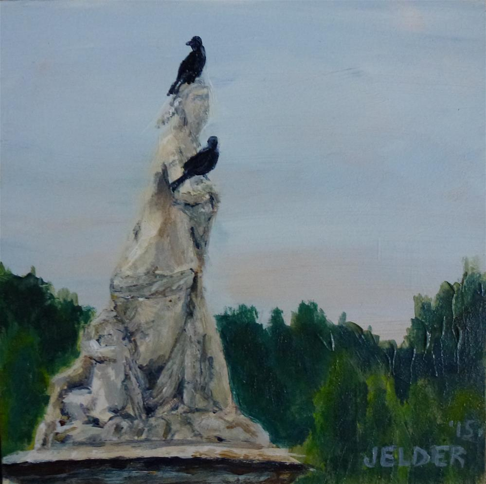 """""""Statue at Versailles"""" original fine art by Judith Elder"""