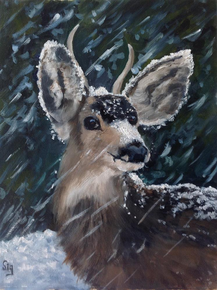 """In the Snow "" original fine art by Sigrid Victor"
