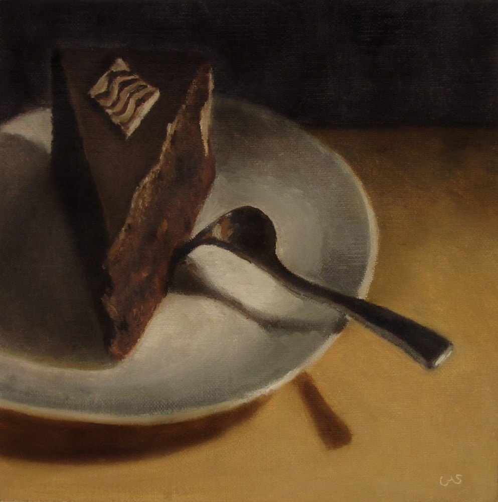 """Sachertorte"" original fine art by Ulrike Miesen-Schuermann"