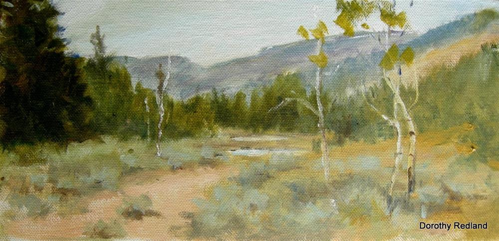 """Little lake"" original fine art by Dorothy Redland"
