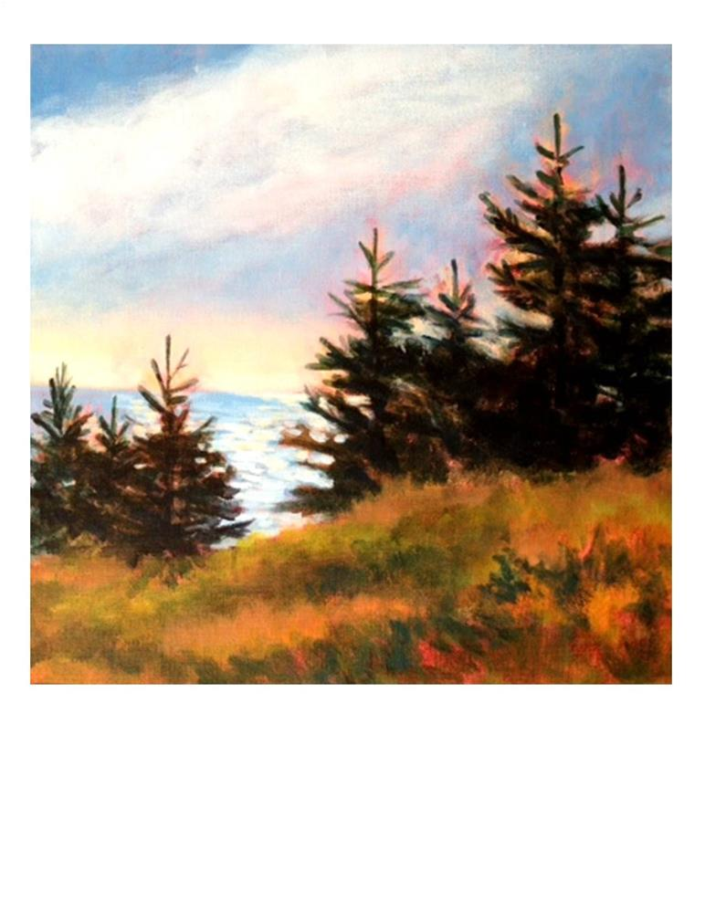 """Late Afternoon on Monhegan"" original fine art by Suzanne Woodward"