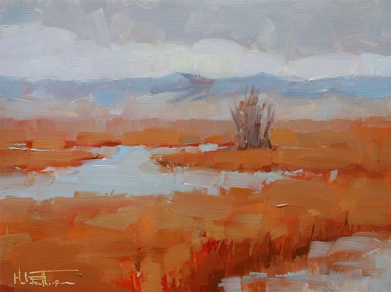 """McNary Marshland"" original fine art by Melanie Thompson"