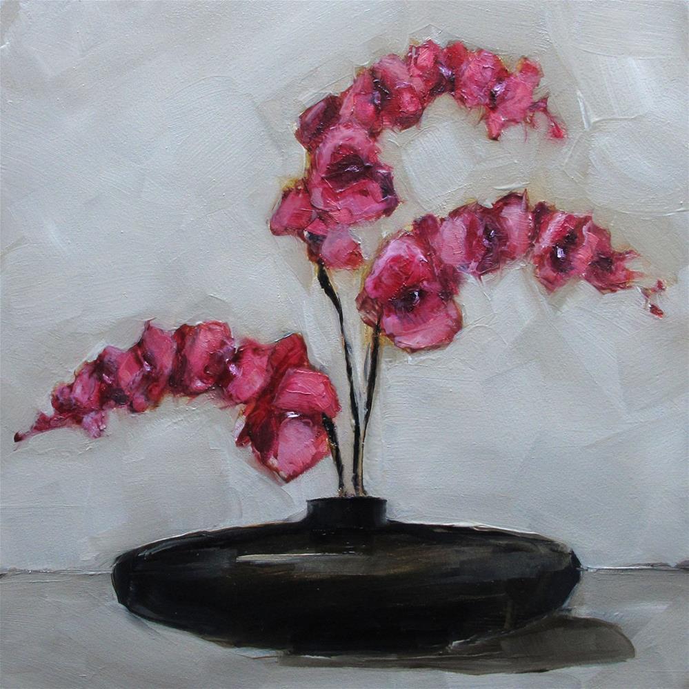"""""""STILL LIFE Floral Phalaenopsis Orchid Original Art Colette Davis Painting OIL"""" original fine art by Colette Davis"""