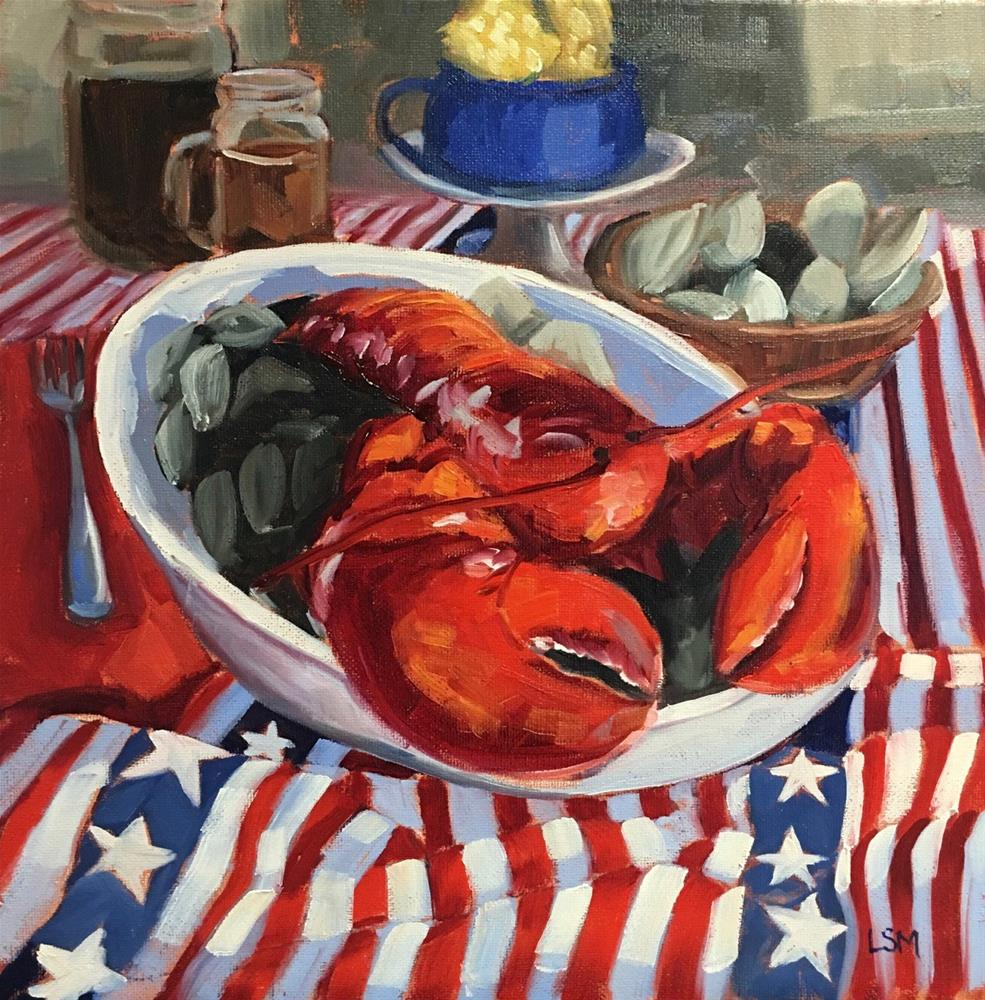 """Rock'n Lobster"" original fine art by Linda Marino"