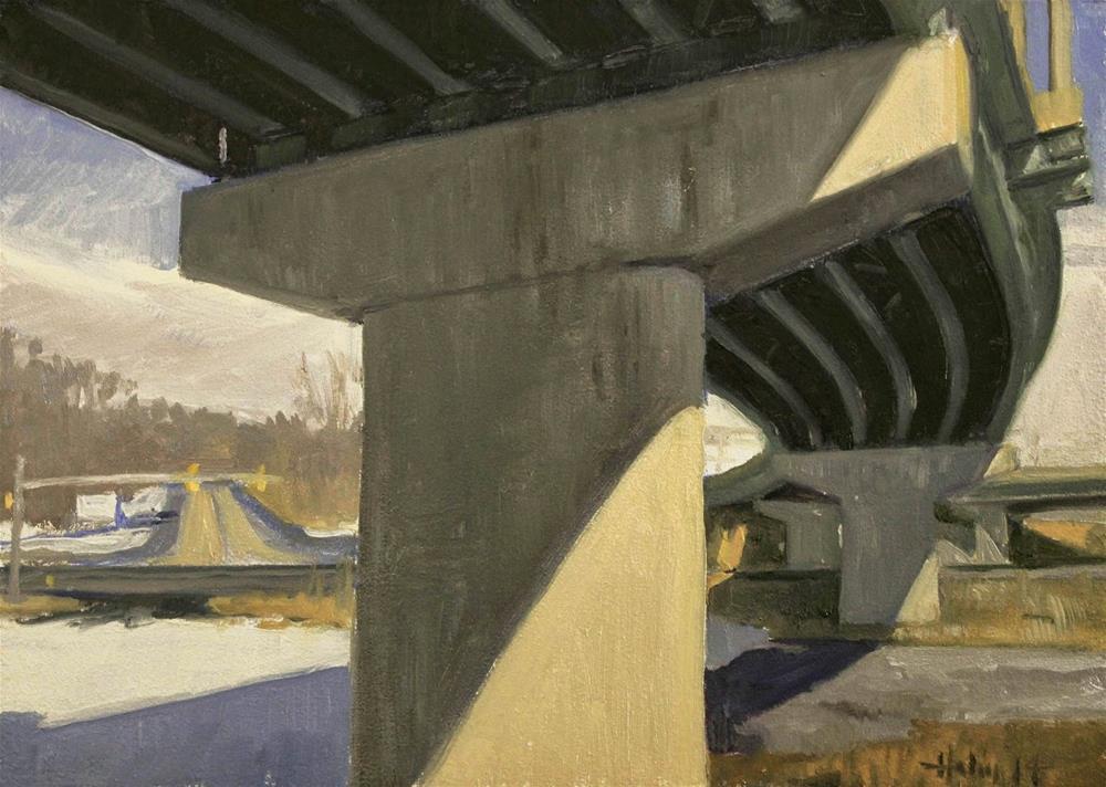 """Under the Big Curve"" original fine art by Ski Holm"