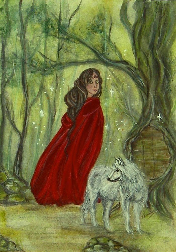 """Enchanted forest"" original fine art by Julie Rabischung"