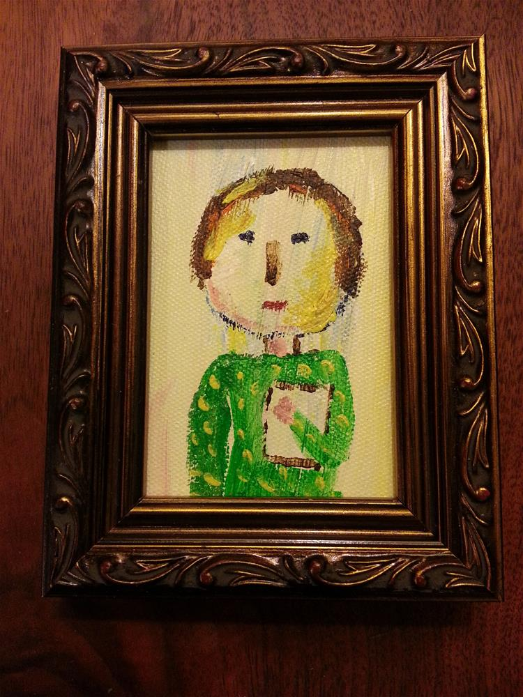 """Mini Marcie's Teacher"" original fine art by Jo Allebach"