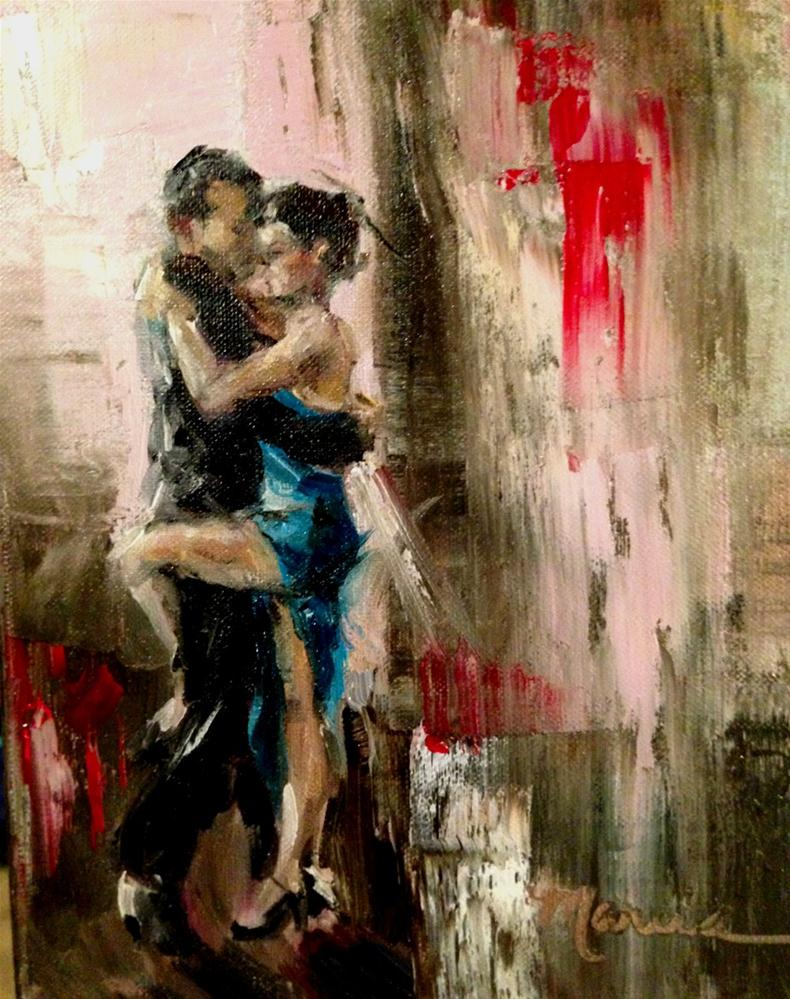 """The Tango"" original fine art by Marcia Hodges"