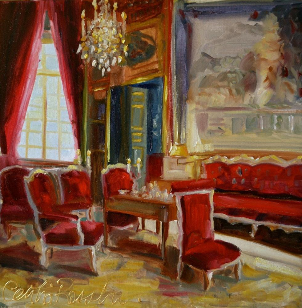 """The Red Room"" original fine art by Cecilia Rosslee"