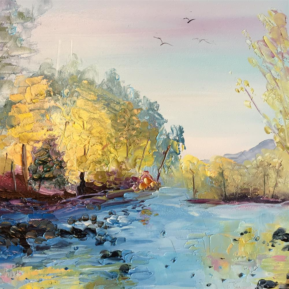 """River Trail"" original fine art by Rose Brenner"