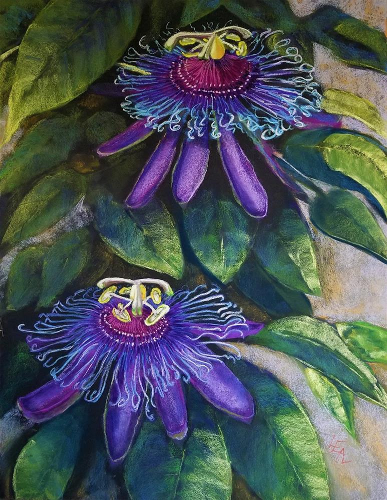 """Passionate Duet"" original fine art by Anna Lisa Leal"