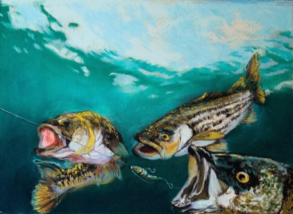 """The Chase"" original fine art by Jill Bates"