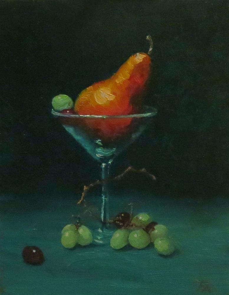 """Pear Martini"" original fine art by Elizabeth Elgin"