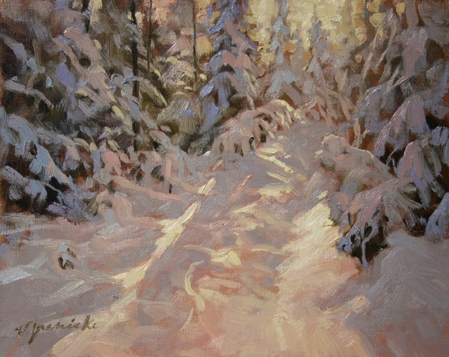"""Frosted"" original fine art by Barbara Jaenicke"