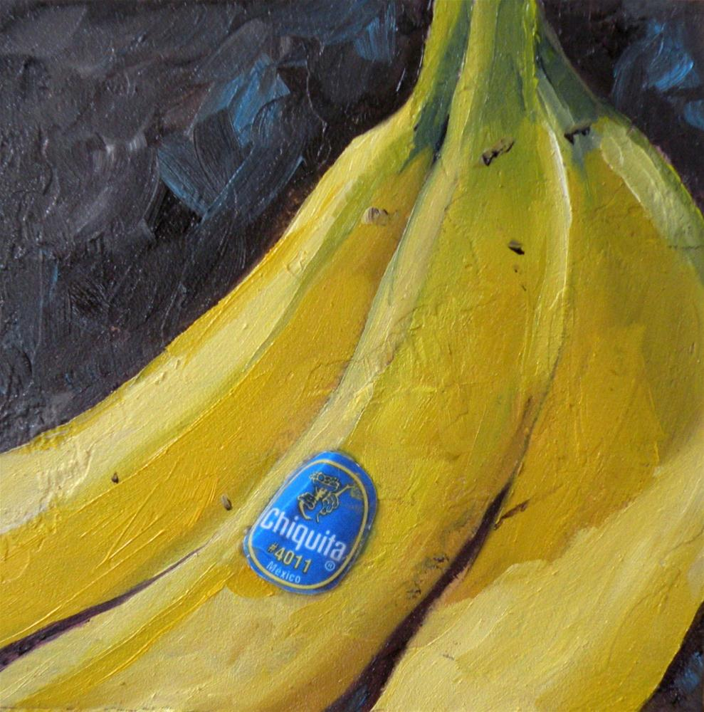 """CHIQUITA ORIGINAL 4X4 OIL ON PANEL © SAUNDRA LANE GALLOWAY"" original fine art by Saundra Lane Galloway"