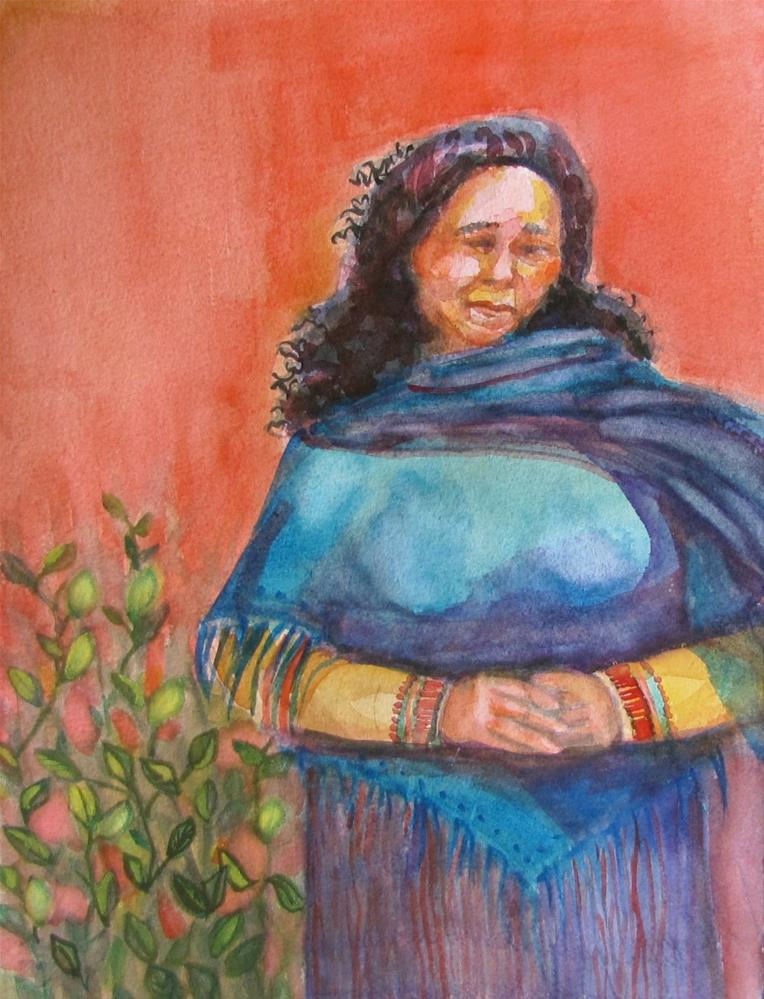 """""""An Important Woman"""" original fine art by Christine Holzschuh"""
