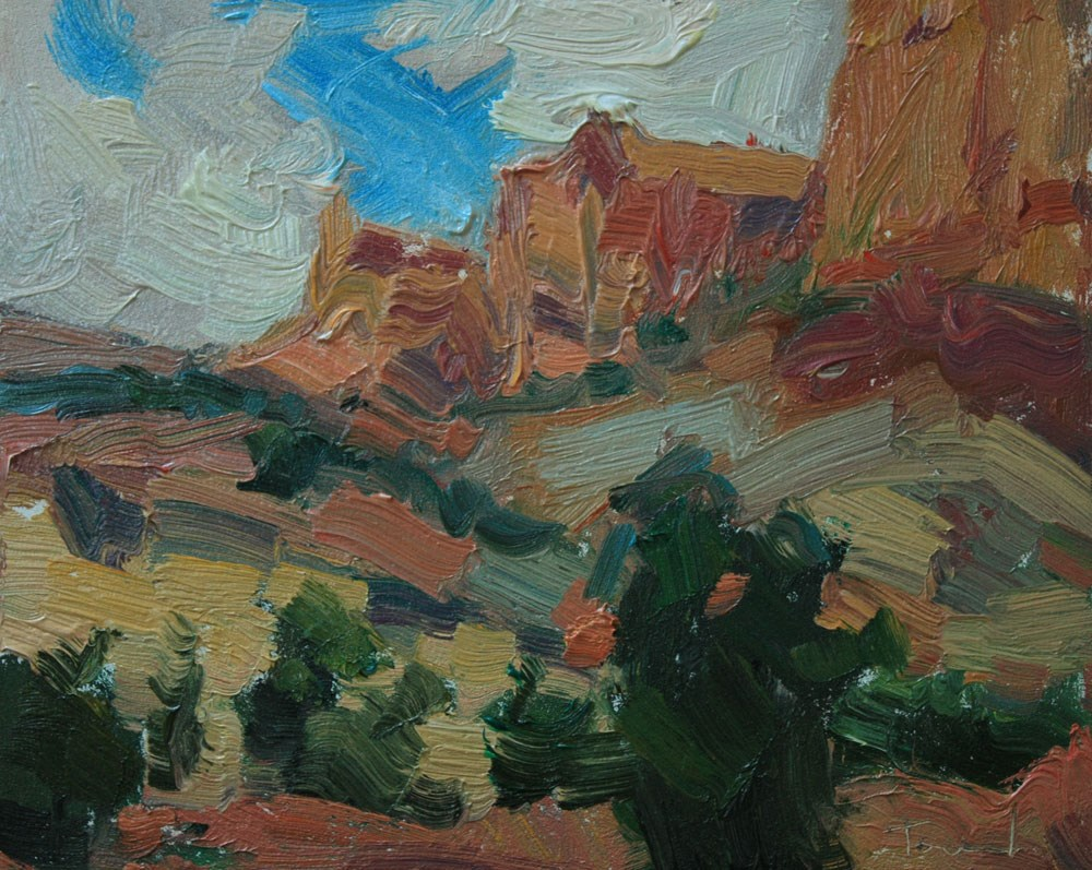 """Capitol Reef Stormy Day"" original fine art by Kathryn Townsend"