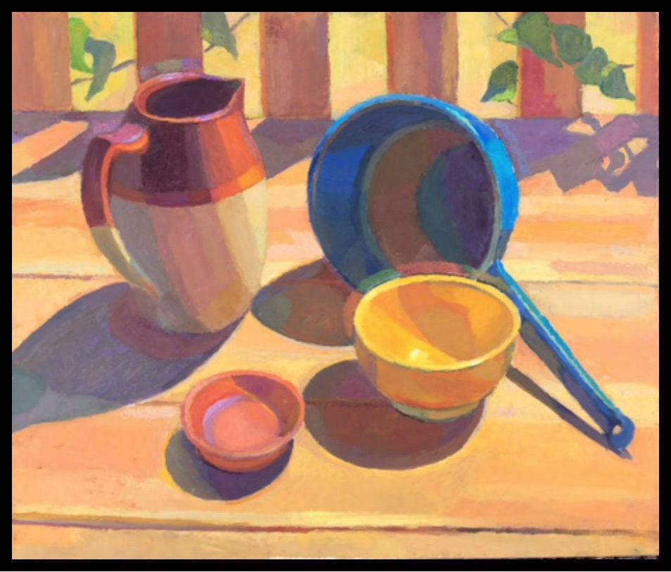 """Summer Outdoor Still Life"" original fine art by Michael McConnell"
