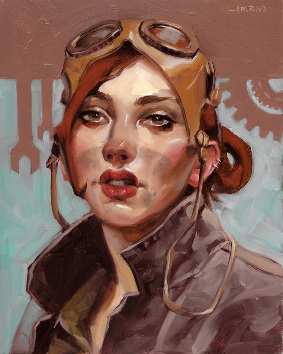 """Grease Monkey"" original fine art by John Larriva"