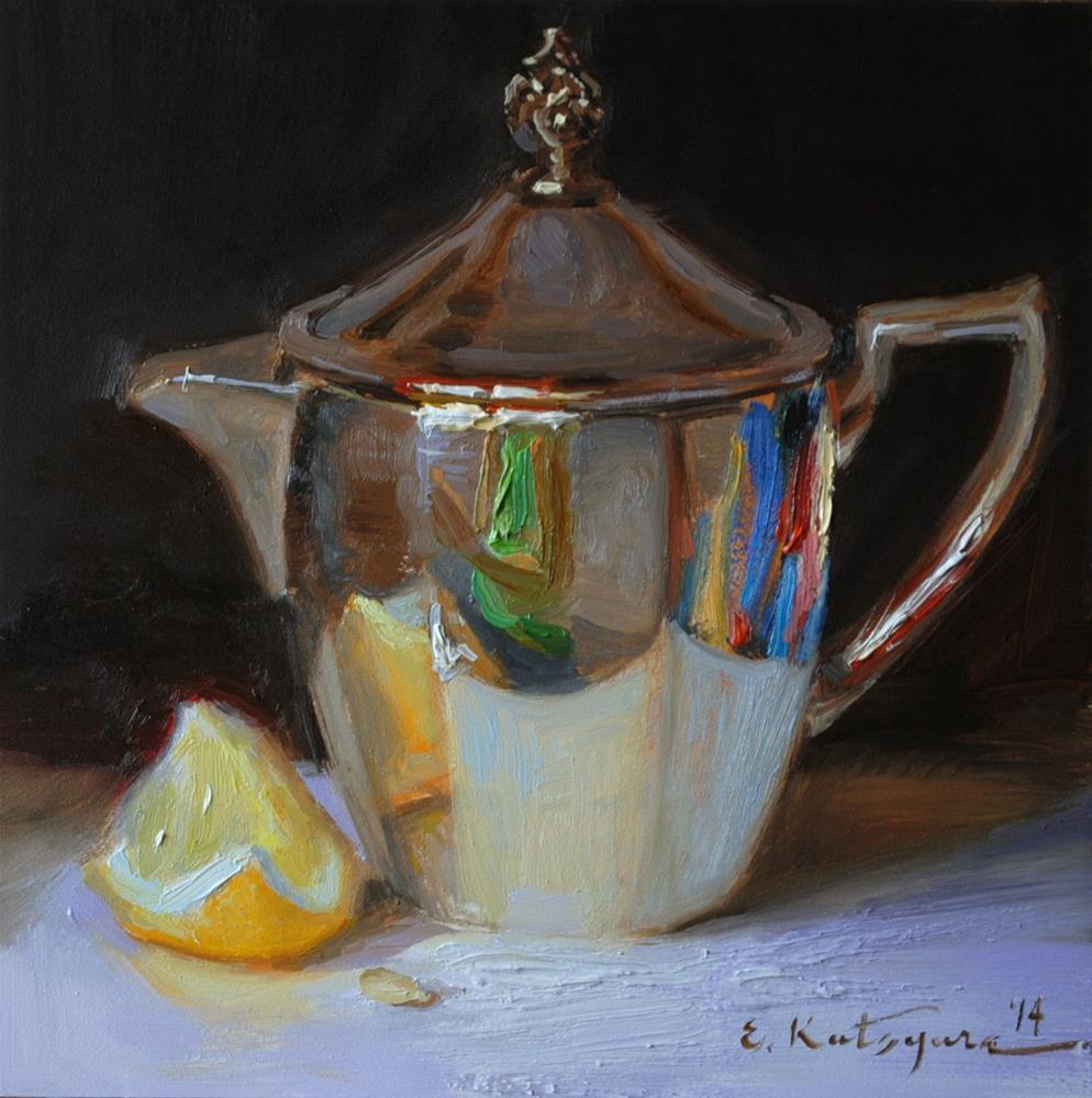 """""""Lemon Reflection"""" original fine art by Elena Katsyura"""